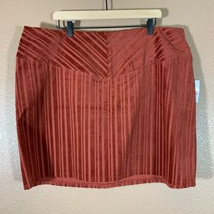 Forever 21 Corduroy Rust Color Skirt NWT
